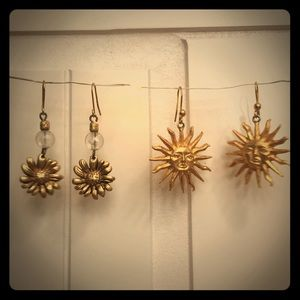 Express sunflower and sun earrings